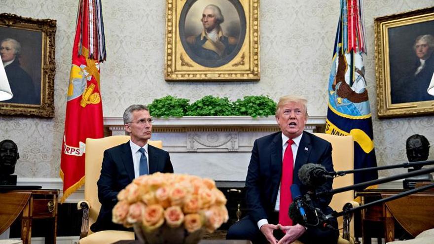 """Trump dice que """"lidiará"""" con los países de la OTAN que no aporten el 2 % del PIB"""