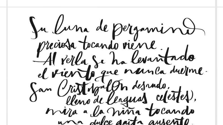 Caligrafía de Mr. Zé para el 'Romancero gitano' de Lorca