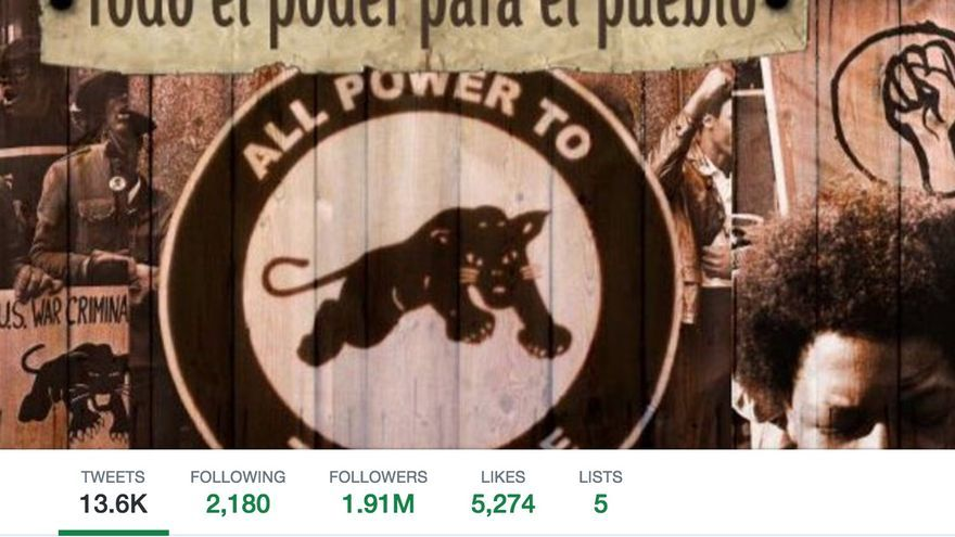Perfil de Twitter de Pablo Iglesias.
