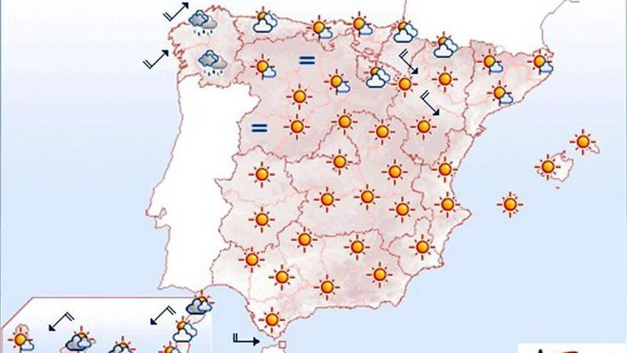 Mañana, descenso de las temperaturas, salvo las diurnas en el este