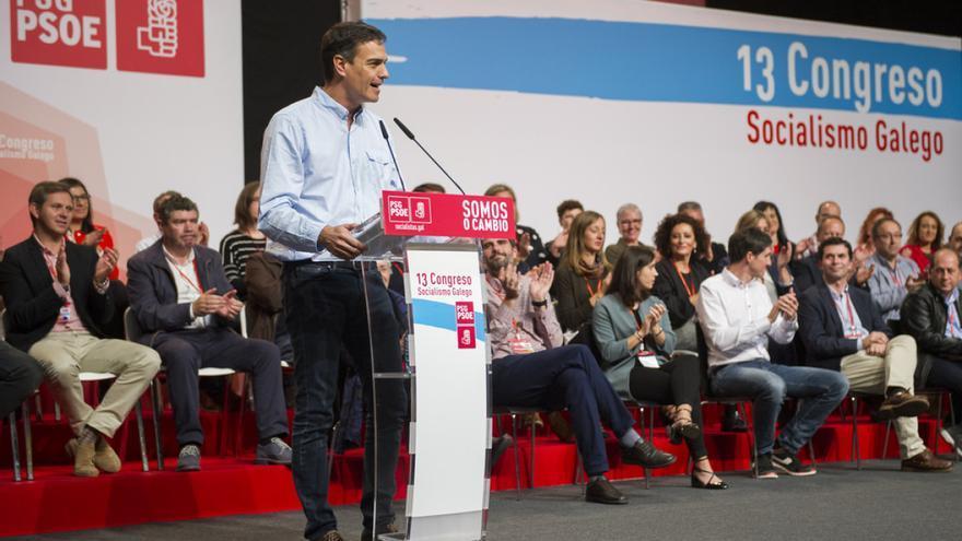Sánchez interviene ante la nueva Ejecutiva del PSdeG