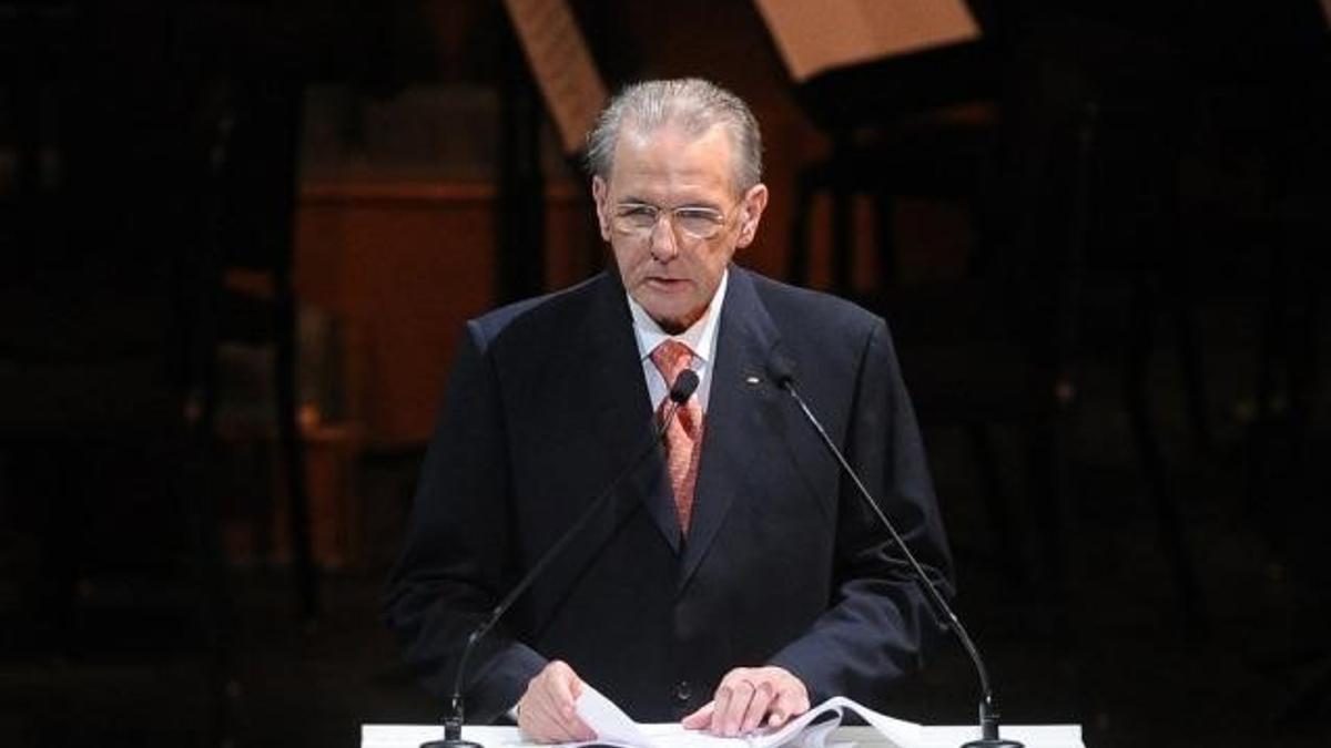 El expresidente del COI Jacques Rogge