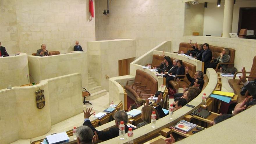 El Parlamento de Cantabria durante una sesión plenaria de la presente legislatura.