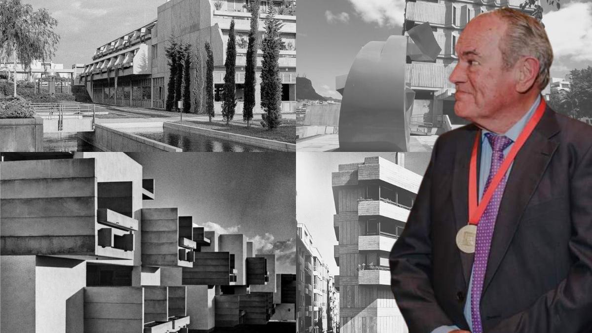 Varias de las obras arquitectónicas de Vicente Saavedra y Javier Díaz-Llanos