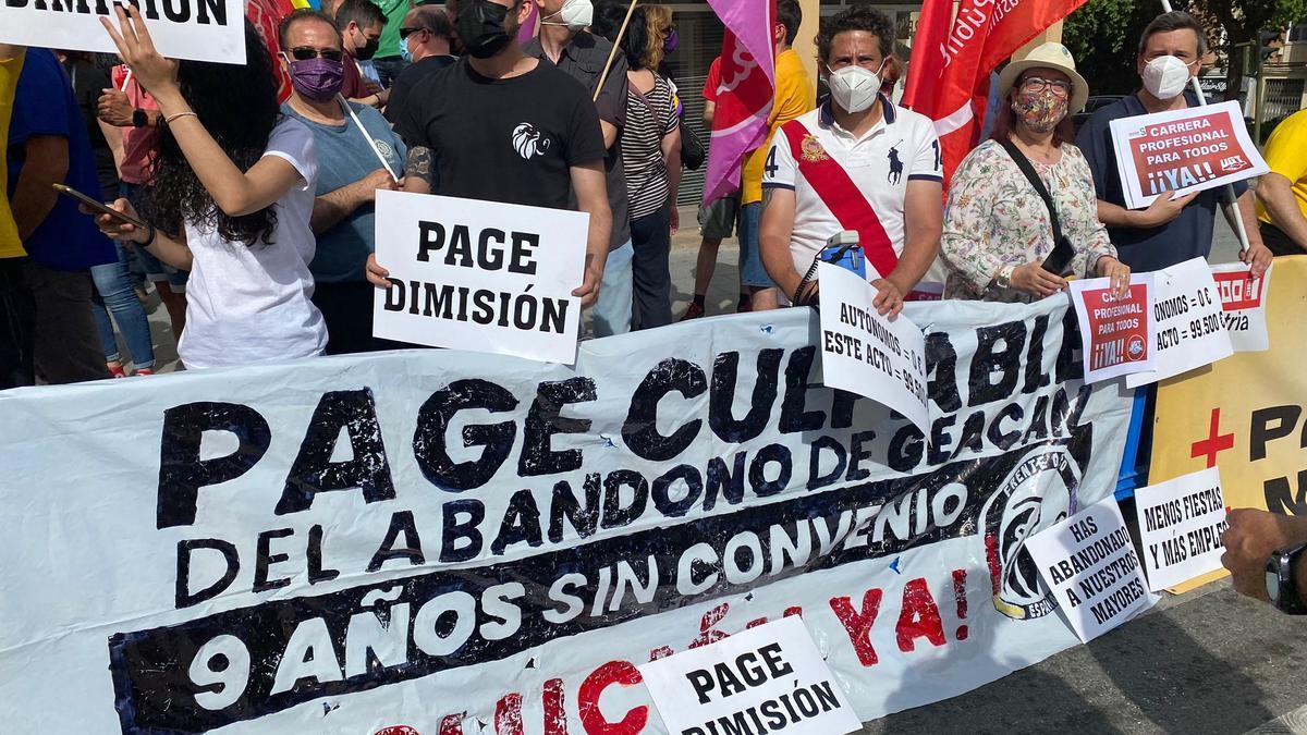 Protesta Geacam acto día de la región