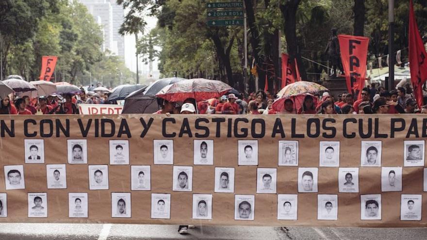 Manifestación en México por los desaparecidos ©Amnistía Internacional/Sergio Ortiz Borbolla