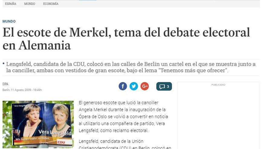Noticia de El Diario de Sevilla en la que se muestra el cartel electoral.