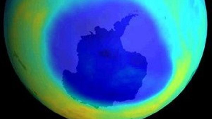 Agujero antártico de la capa de ozono. (CANARIAS AHORA)
