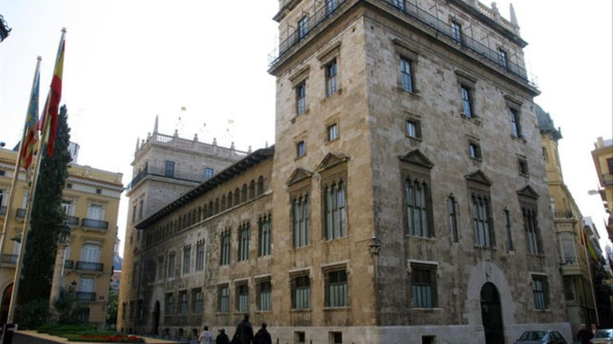 El Palau de la Generalitat Valenciana.
