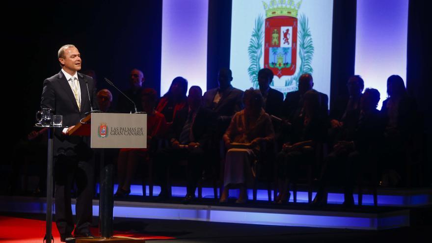 El alcalde de Las Palmas de Gran Canaria, Augusto Hidalgo, en el Acto de Honores y Distinciones del Ayuntamiento de Las Palmas de Gran Canaria