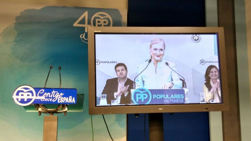 Comparecencia de Cristina Cifuentes ante la dirección de su partido tras el escándalo de su máster.