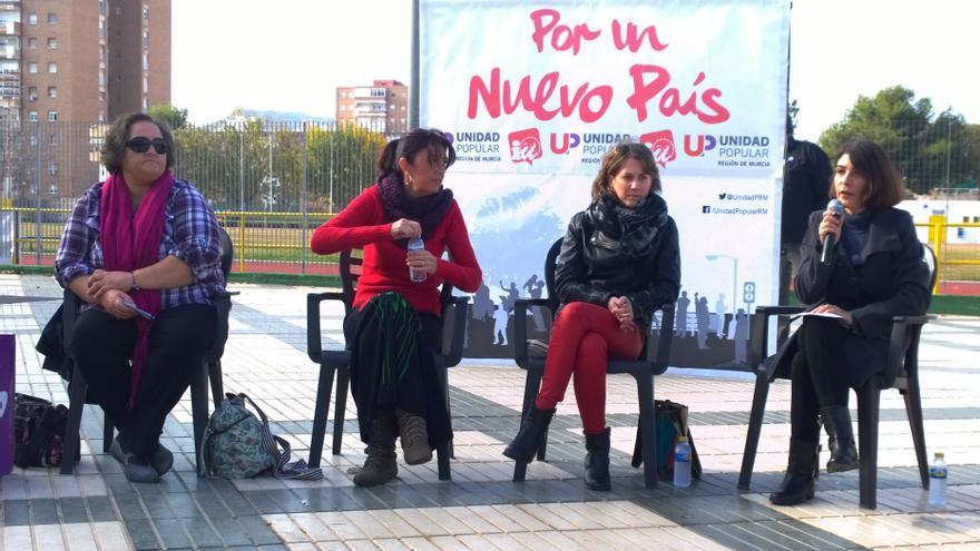 Acto de UP-IU Verdes en Cartagena, en el que participó Marina Albiol