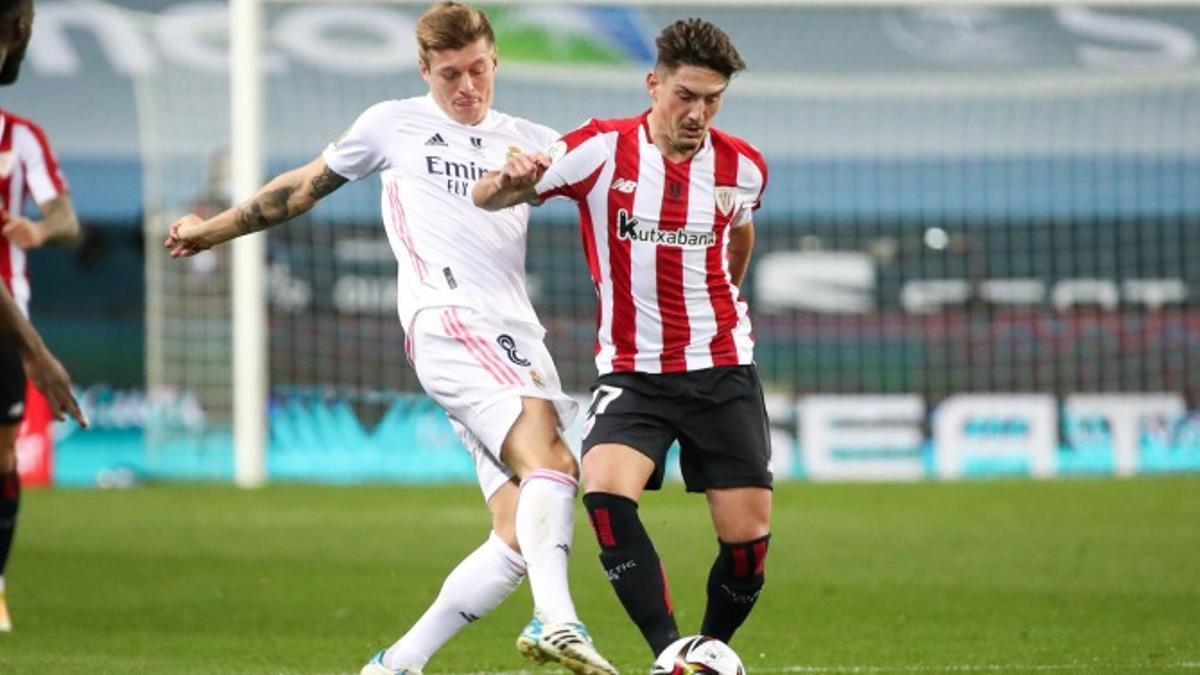 Encuentro entre el Real Madrid y el Athletic de Bilbao el pasado mes de enero.