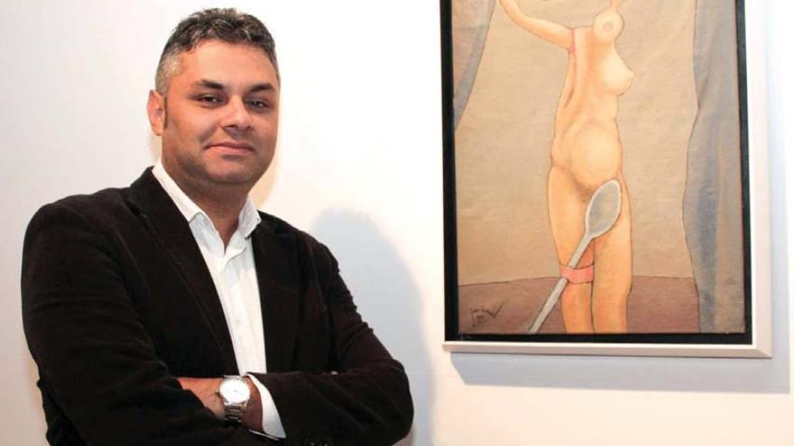 El consejero de Cultura y Patrimonio Histórico del Cabildo de Fuerteventura, Juan Jiménez