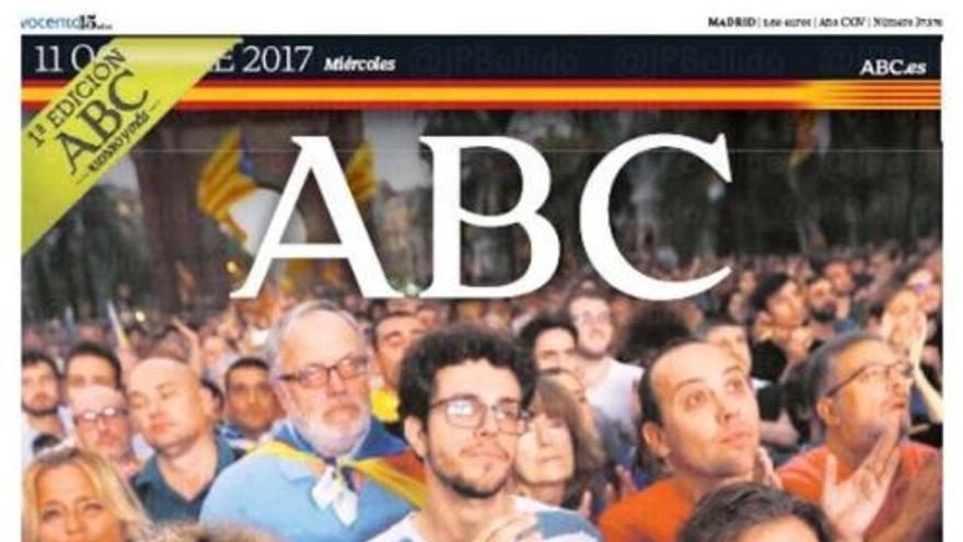 Portada de ABC del 11 de octubre