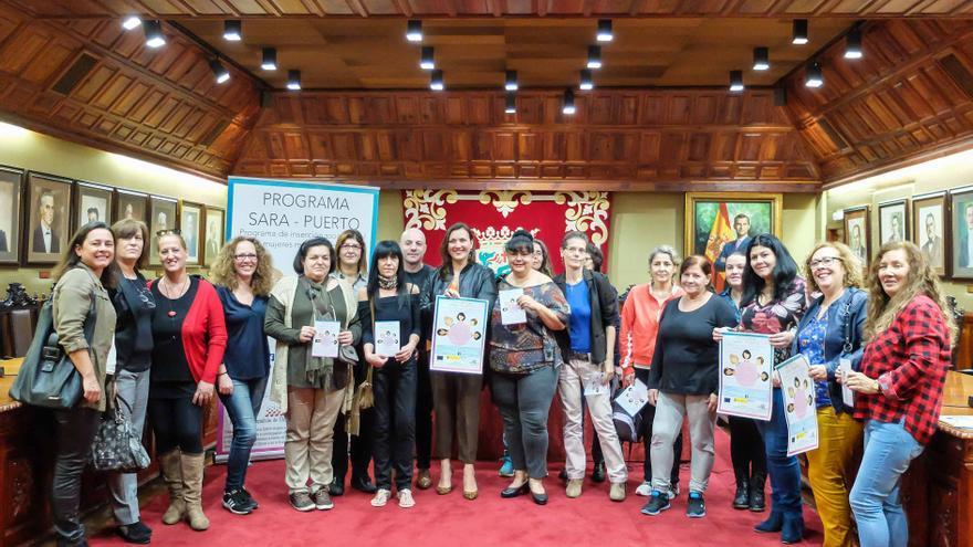 Alumnas y colaboradoras del Proyecto SARA, durante la presentación este martes