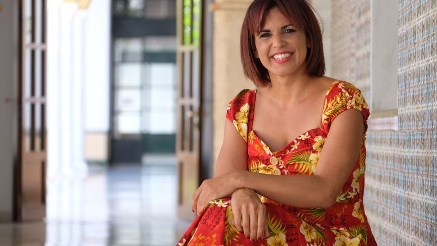 Teresa Rodríguez posa para eldiario.es Andalucía en el Parlamento de Andalucía