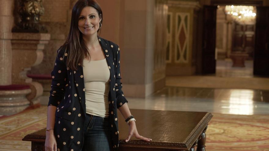 Lorena Roldán en el Parlament de Catalunya
