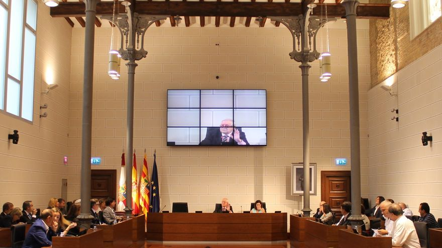 Pleno de la Diputación de Zaragoza.