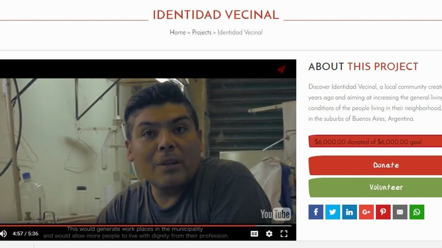 Change Tomorrow (Identidad Vecinal, uno de los proyectos promovidos en Change Tomorrow)