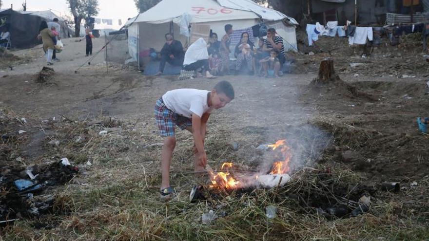Amenaza de cierre del campo de refugiados de Moria por problemas de higiene