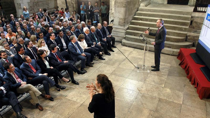 Alberto Fabra, en la presentación del Portal de Transparencia.