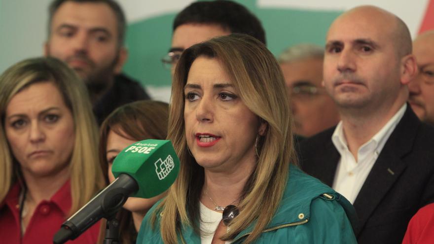 Susana Díaz comparece tras conocerse los resultados electorales