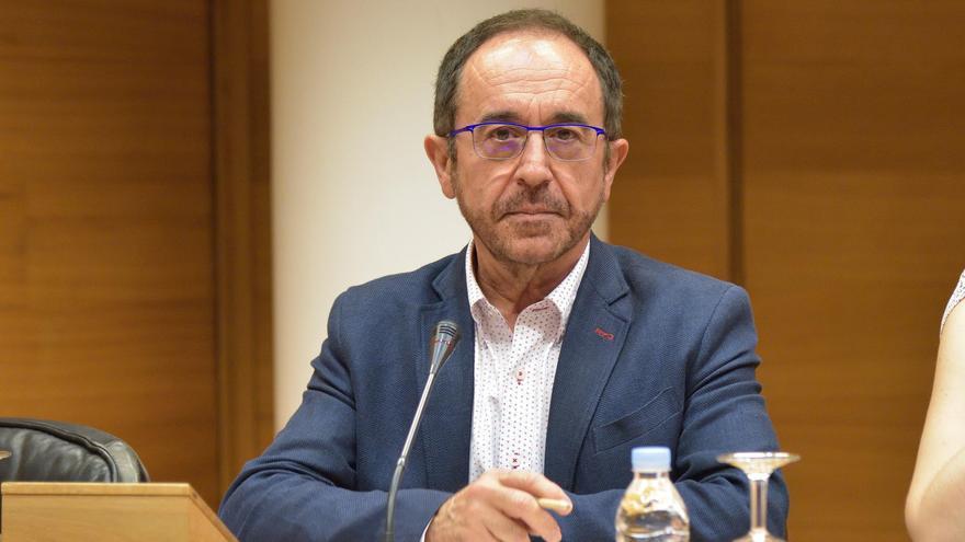 Andrés Perelló, exdiputado del PSPV, en la comisión de investigación de Ciegsa