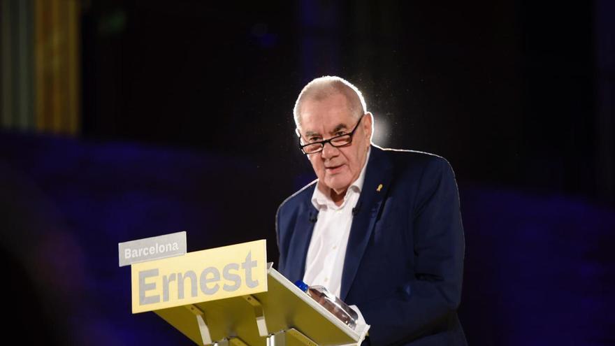 Ernest Maragall, en el acto de presentación de su candidatura por ERC