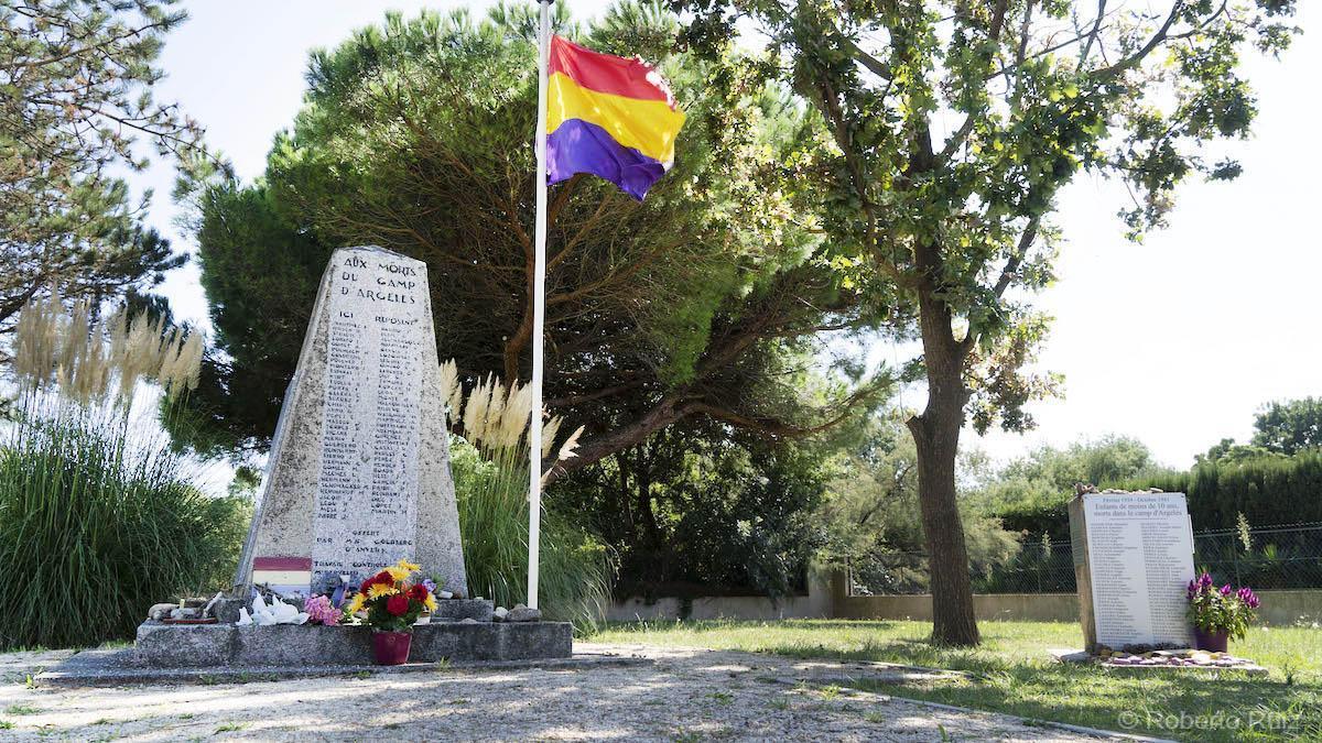 El Cementerio de los Españoles que murieron en el campo de Argelès.