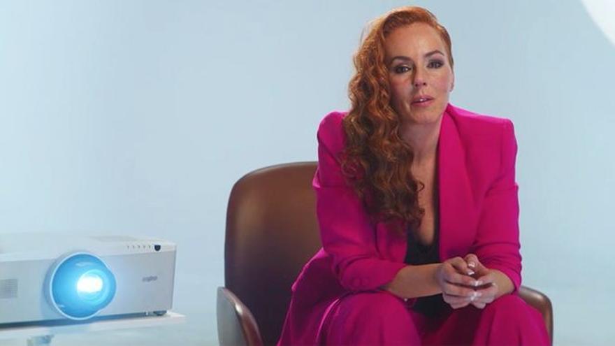 Rocío Carrasco, en un momento de la entrevista emitida en Telecinco.