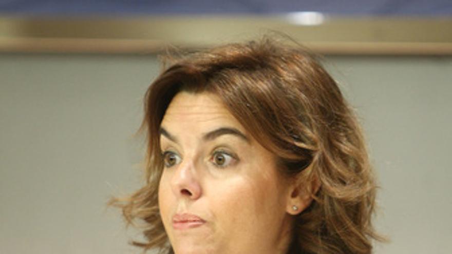 Portavoz del Grupo Popular en la Cámara Baja, Soraya Sáenz de Santamaría