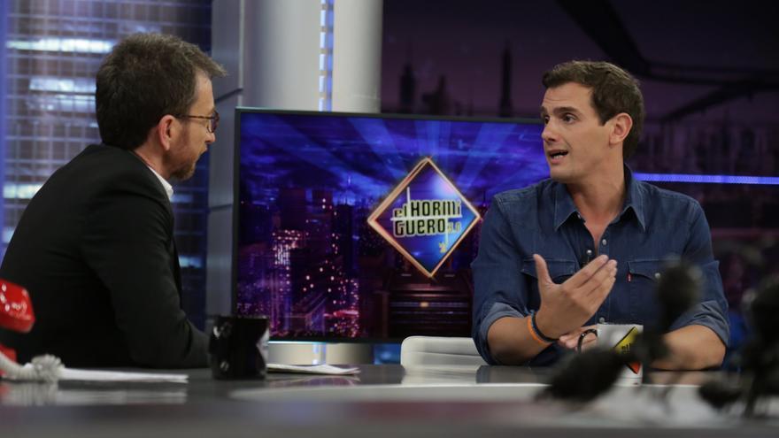 Albert Rivera junto a Pablo Motos en el programa en 'El hormiguero'