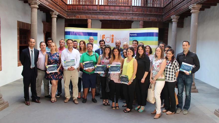 En la imagen, participantes en la clausura de la primera edición de la Factoría de Innovación de La Palma.