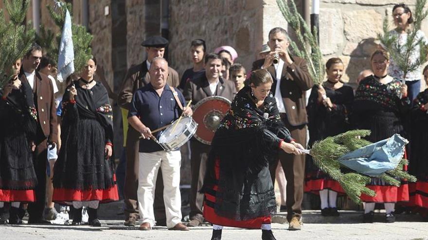 Las mujeres, protagonistas de la Pinochada en Vinuesa (Soria)