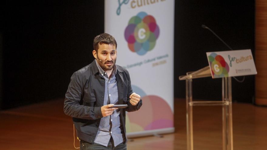 El conseller de Educación, Vicent Marzà, en la presentación de Fer Cultura.