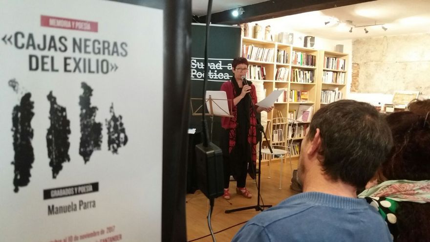 Manuelle Parra recitando el pasado domingo en La Vorágine. | EMMANUEL GIMENO
