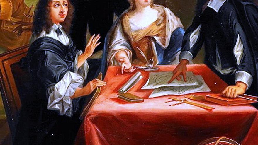 René Descartes y la reina Cristina de Suecia -Pierre Louis Demusnil, Nils Forsberg.
