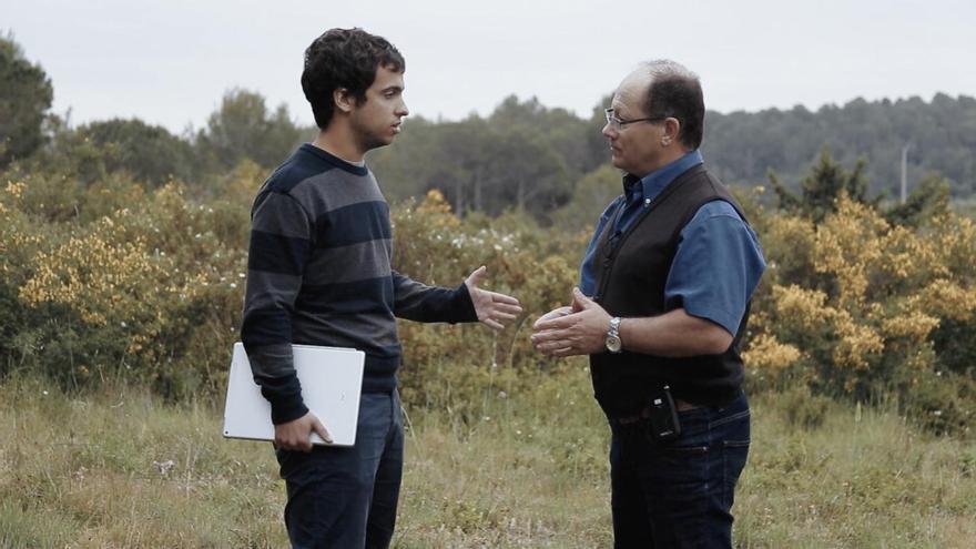 El director Fèlix Colomer durante la entrevista con Joaquín Benítez