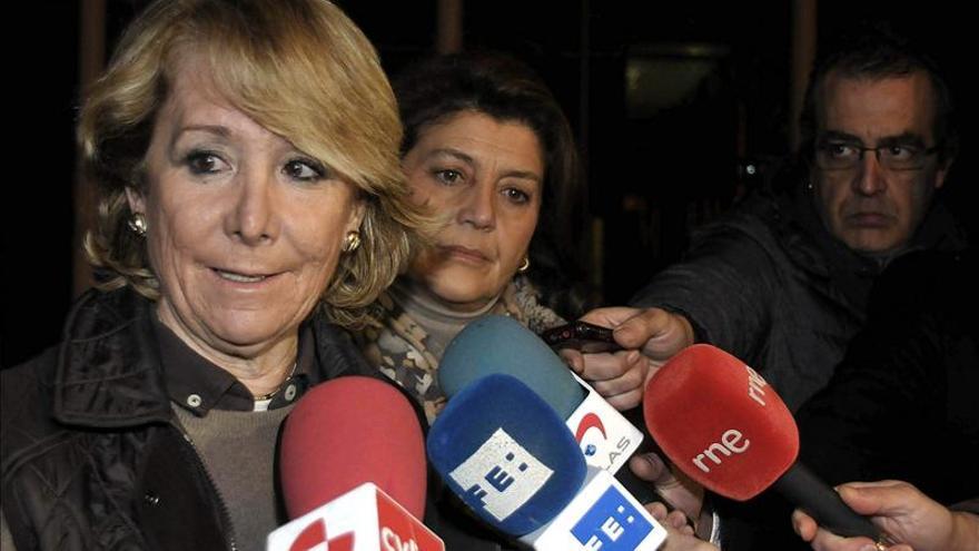Aguirre asegura que el PP saldrá reforzado tras investigar las cuentas
