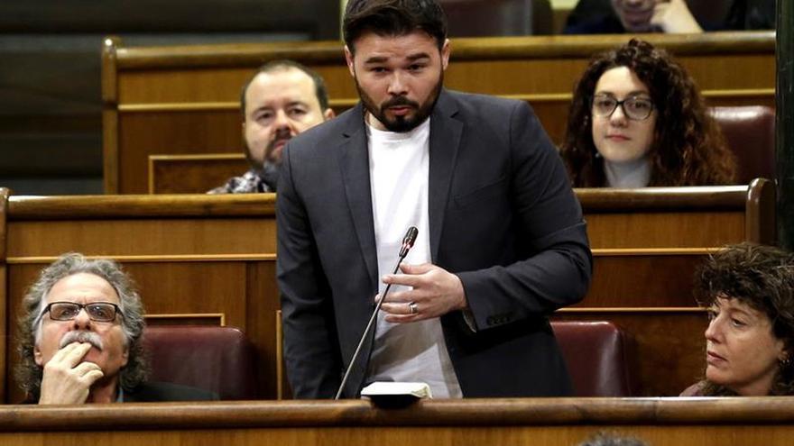 """Rufián se queja de que algunos diputados le llamaron ayer """"gilipollas"""""""