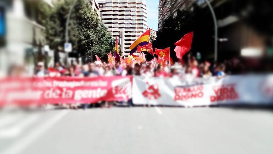 Manifestación 1 de mayo en Murcia / Archivo de @IUVRM