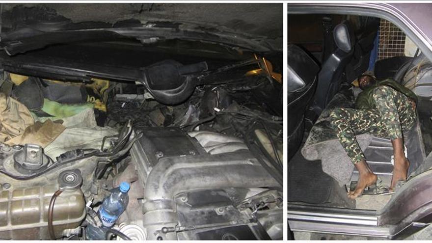 Detenido por ocultar a dos inmigrantes en el motor y en el depósito de gasolina del coche en Ceuta