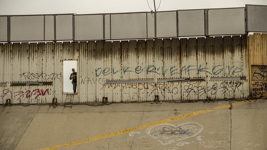 El muro entre México y EEUU situado en Tijuana   José Pedro Martínez