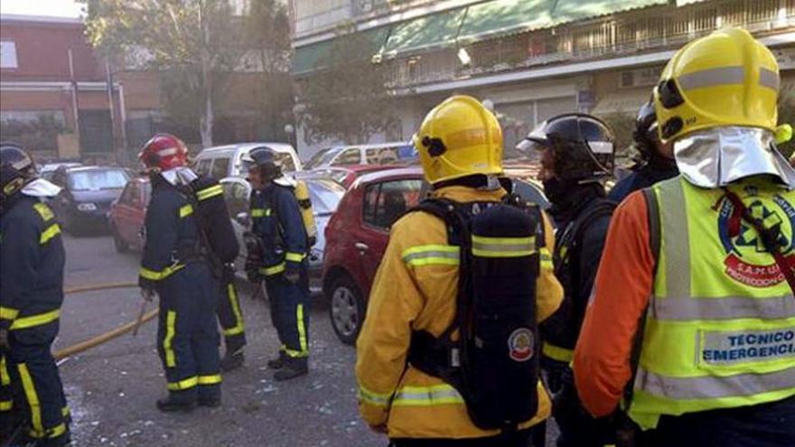 Un herido y varios desalojados por incendio en un edificio en Getafe (Madrid)