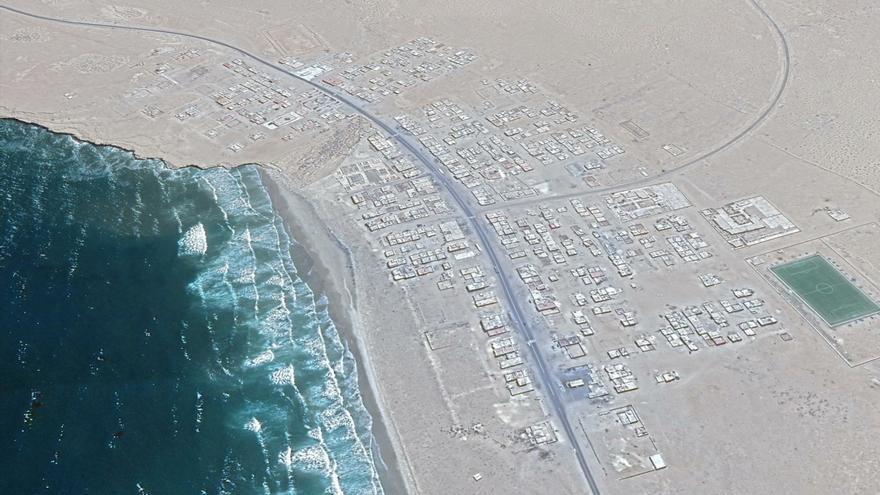 Vista área de Akhfenir
