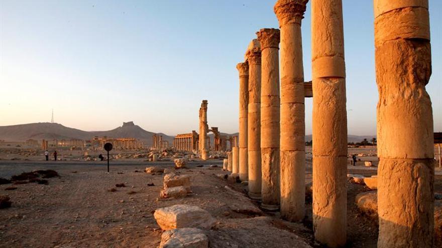 Un supuesto vídeo del EI muestra la destrucción de estatuas y momias de Palmira