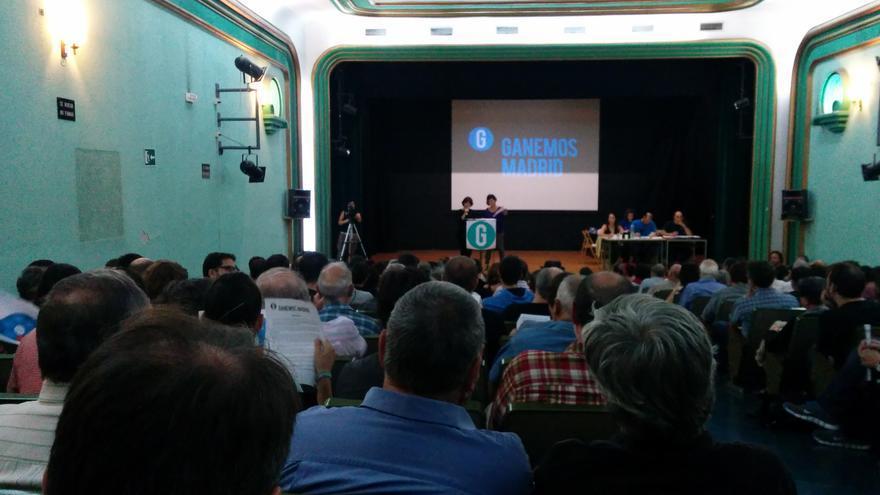 Tercer plenario de Ganemos Madrid, celebrado en el IES Cardenal Cisneros de la capital. \ A.R