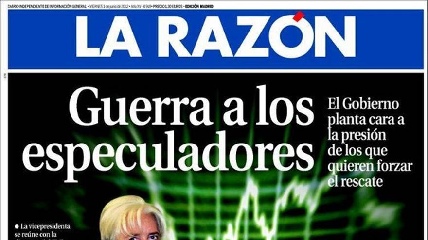De las portadas del día (01/06/2012) #9