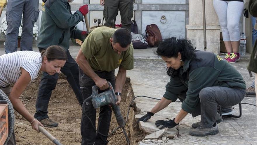 Comienzan los trabajos de exhumación de un centenar de personas de la fosa de Porreres